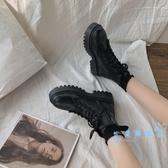 短靴 網紅內 英倫風馬丁靴女短靴2019年新款ins潮鞋百搭秋冬季加絨