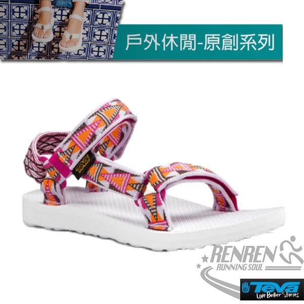 TEVA  女運動涼鞋 Original Universal (格菱紫) 緹花織帶涼鞋 耐磨抗菌TV1003987MOCH