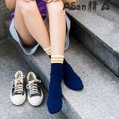 堆堆襪-襪子中筒襪韓版學院風復古可愛薄純棉長襪