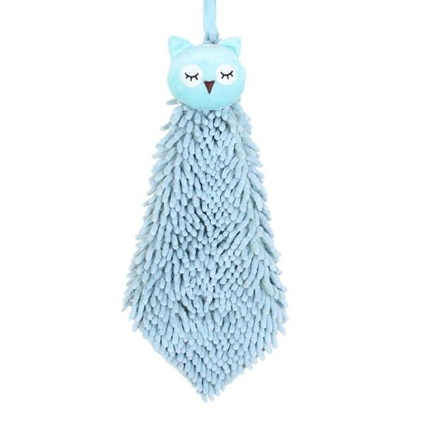 擦手巾掛式廚房衛生間吸水毛巾康樂屋加厚雪尼爾動物抹布擦手布【萬聖夜來臨】
