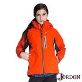 【全省獨賣】Jordon 橋登 GORE-TEX 兩件式外套 女 亮橘/鐵灰