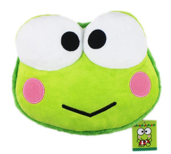 【卡漫城】 大眼蛙 午安枕 馬卡龍 24cm ㊣版 絨毛 娃娃 Keroppi 可洛比 午休枕 玩偶 抱枕 青蛙 靠枕