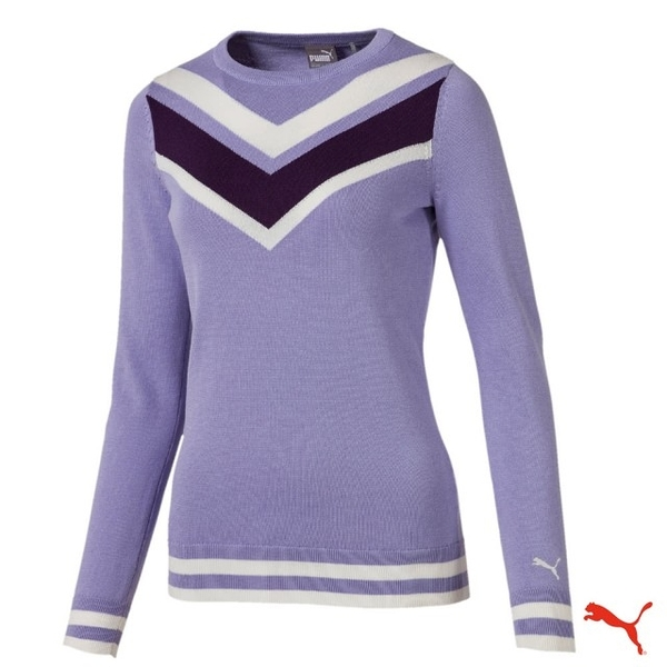 PUMA GOLF W Chevron Sweater 女高爾夫球系列長袖毛衣 577941 02