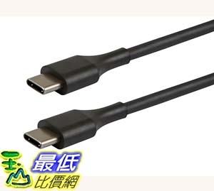 [7美國直購] 充電線 Monoprice USB 2.0 USB-C Male to USB-C Male Charging Cable, 6 (113010) _E18