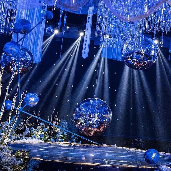 七彩旋轉燈 玻璃鏡面球反光球圣誕球寫真道具舞臺酒吧KTV迪斯科反射球【快速出貨八折鉅惠】