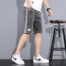 休閒短褲 牛仔短褲男士2021年夏季新款潮流外穿潮流工裝馬褲寬鬆五分中褲子