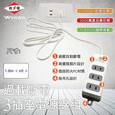 威電 過載斷電3插2P電源線(CK2031-6)