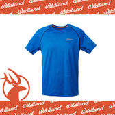 【Wildland 荒野 男 雙色拼接抗UV圓領上衣/L《寶藍》】0A61612-70/吸濕排汗/抗紫外線/短袖T恤/休閒/登山