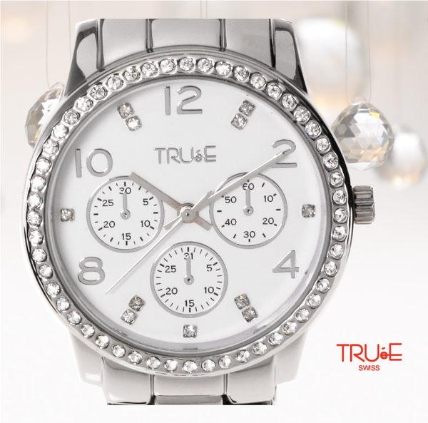 瑞士 TRUE 瑞時寶嘉  TC150184 紐約大道明星晶鑽腕錶 /37mm (白)