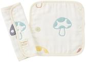 日本Hoppetta 六層紗繽紛蘑菇背巾口水巾