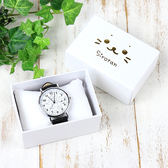 [PET PARADISE] 日本Sirotan 小白太郎 小海豹 滿版小海豹手錶-皮革錶帶-黑色