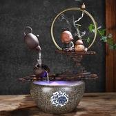 中式創意陶瓷小和尚流水風水招財擺件客廳辦公室加濕器魚缸裝飾 時尚小鋪