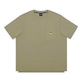 KANGOL 中性款綠色寬鬆口袋拚接休閒上衣-NO.6121100572
