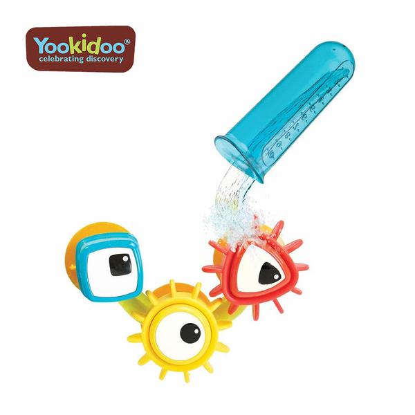 Yookidoo 以色列 洗澡/ 戲水玩具 -轉轉齒輪試管組