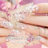 一盒20多片美甲假指甲貼片 影樓婚紗結婚新娘成品甲片 可愛 果果輕時尚