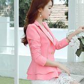 西裝外套 秋裝新款韓版修身長袖小西裝外套女士短款休閒百搭小西服女潮 唯伊時尚