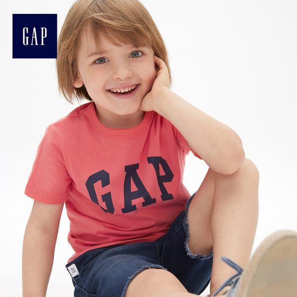 Gap男嬰幼童 Logo圓領短袖T恤 468170-辣椒紅