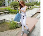 2018韓國新款女包單肩包牛仔布包時尚挎包牛仔帆布單肩包手提包女【無趣工社】