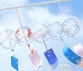 新款玻璃櫻花風鈴鈴鐺創意臥室掛件冥想夏日和風掛飾門飾女生 韓流時裳