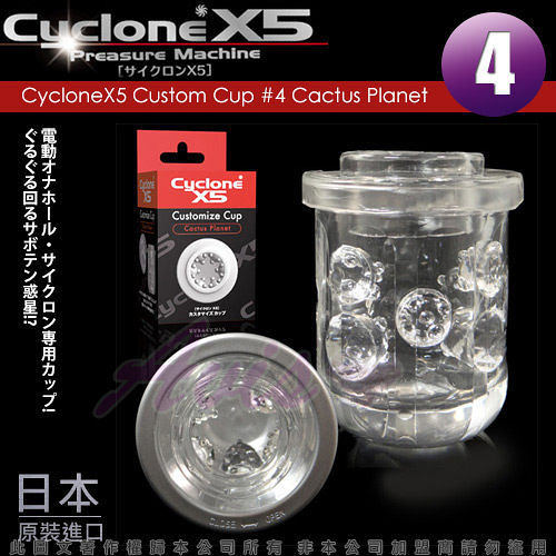 情趣用品 贈潤滑液+跳蛋 CycloneX5-高速迴轉旋風機 內裝杯體 Cactus Planet(仙人掌)