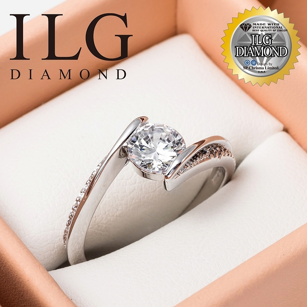(零碼)【ILG鑽】Beginner 美好初衷 0.75克拉-頂級美國ILG鑽飾,媲美真鑽亮度的鑽飾 RiP36