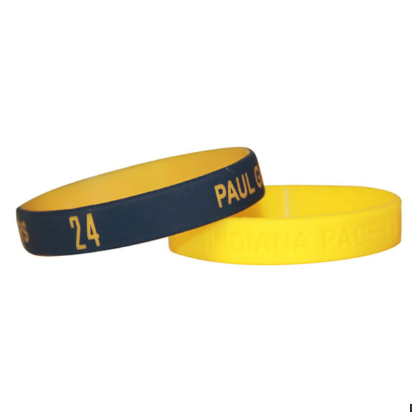 NBA官方授權正版 運動矽膠手環 - 印第安納溜馬Paul George