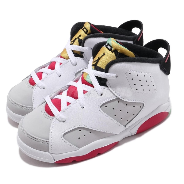 Nike Air Jordan 6 Retro TD Hare 白 灰 童鞋 小童鞋 兔寶寶 喬丹 6代 【PUMP306】 384667-062