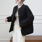羽絨服女 菱格羽絨棉服女短款冬季新款正韓寬鬆面包服韓國棉襖外套潮【快速出貨】