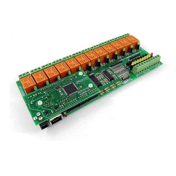 Denkovi 12通道以太網模塊 12 SPDT Relays, Digital Inputs, Counters, ADC, PWM, SNMP - 12VDC [2美國直購]