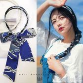 發帶女綁發韓國簡約頭飾絲帶頭箍網紅超仙發卡編發蝴蝶結飄帶發箍 格蘭小舖