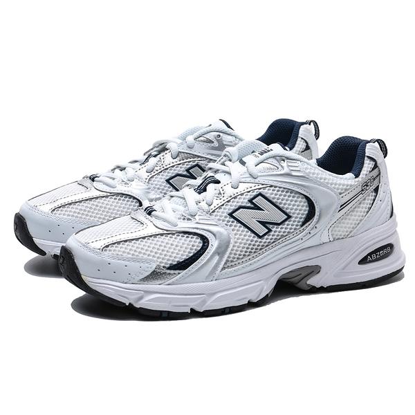 NEW BALANCE 530 白銀 皮革網布 LOGO 休閒鞋 男女 (布魯克林) MR530SG