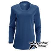 PolarStar 女 圓領排汗 保暖衣 | 發熱衣 『灰藍』P15216