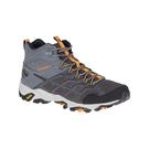 [Merrell] (男) MOAB FST 2 MID GORE-TEX 登山健行鞋 灰/橘黃 (ML48685)