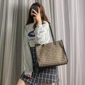 大包包女新款潮韓版百搭側背包大容量洋氣女包編織手提斜背包 韓國時尚週