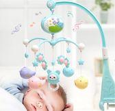 床鈴新生兒嬰兒玩具床鈴0-1歲寶寶音樂旋轉床頭鈴床掛搖鈴3-6-12個月【快速出貨八折下殺】