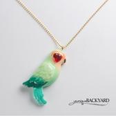 yuniqueBACKYARD 鸚鵡紅寶石項鍊
