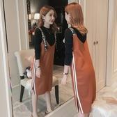 哺乳洋裝 哺乳連身裙洋裝秋冬時尚外出辣媽款女好康推薦新款產后期喂奶衣服潮媽