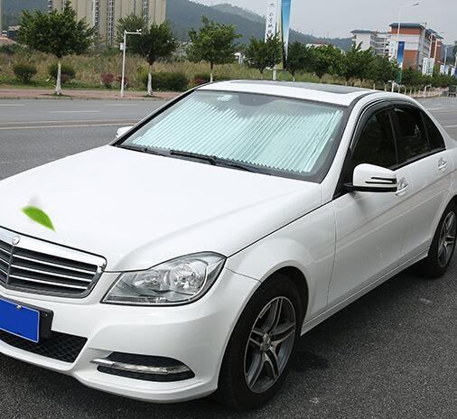 汽車遮陽擋前檔窗簾自動伸縮防曬隔熱車內遮陽板吸盤側車窗遮光簾 古梵希igo