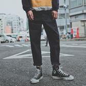 秋季牛仔褲男士 直筒正韓日系潮流寬鬆修身薄款休閒九分褲子