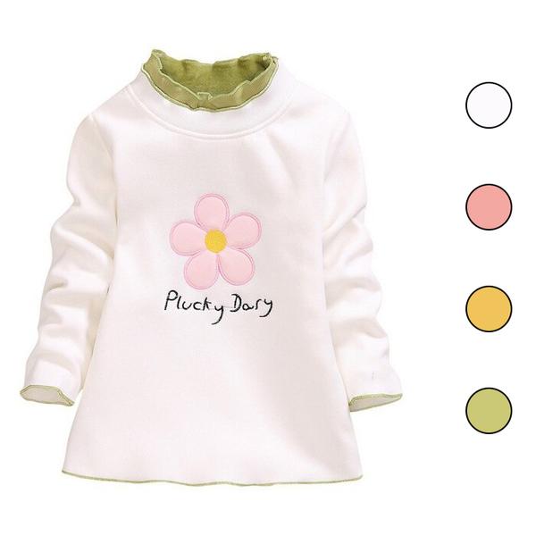 保暖長袖上衣 卡通小花 不倒絨長袖T恤 嬰幼兒保暖T恤 童裝 SG1062 好娃娃