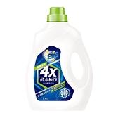 白蘭4X酵素極淨超濃縮洗衣精除菌淨味瓶裝2.4KG