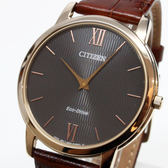 [萬年鐘錶] CITIZEN  Eco Drive GENT'S 光動能時尚 男錶 小牛皮 藍寶石玻璃 黑錶面  39mm AR1133-15H
