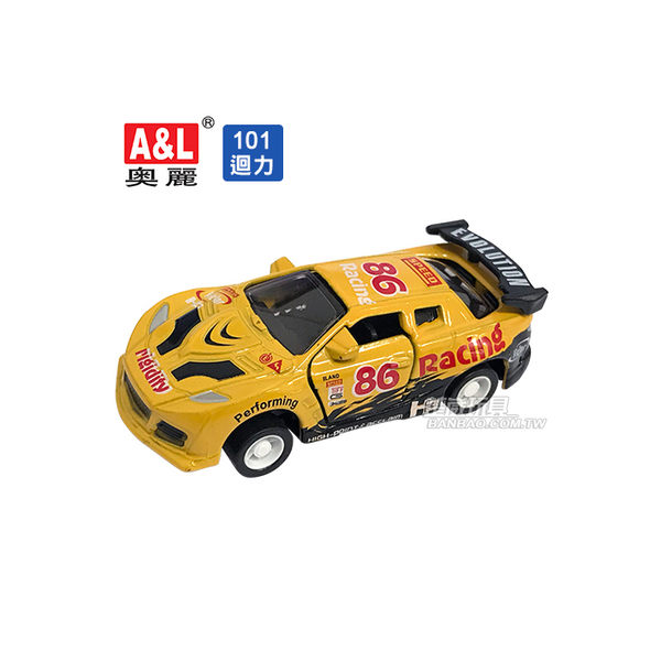 A&L奧麗迷你合金車 NO.101 拉力賽車 迴力車 跑車 超跑 模型車(1:64)【楚崴玩具】