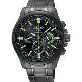 【台南 時代鐘錶 SEIKO】精工 Criteria 太陽能三眼計時腕錶 SSC689P1@V175-0ES0SD 黑鋼 43mm