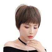 整頂假髮(短髮)-齊瀏海蓬鬆帥氣直髮女假髮4色73vs44[巴黎精品]