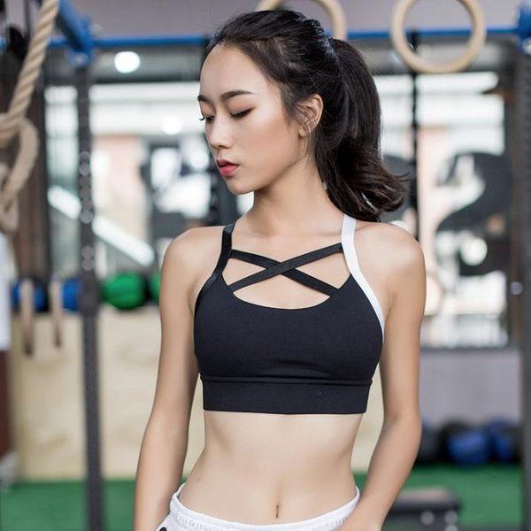 [超豐國際]新款專業高強度防震內衣健身背心運動文胸錦綸瑜伽跑