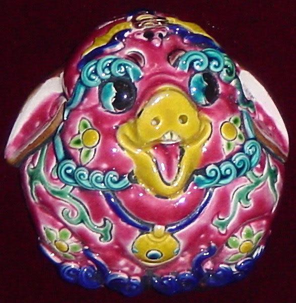 鹿港窯-居家開運商品-台灣國寶交趾陶裝飾壁飾-正方立體框【十二生肖-豬】免運費送到家