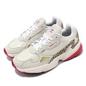 adidas 休閒鞋 Falcon W 米白 金 女鞋 豹紋 老爹鞋 運動鞋【ACS】 FV8079