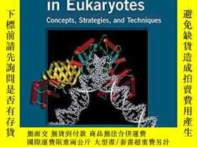 二手書博民逛書店【精裝英文原版】Transcriptional罕見Regulation in Eukaryotes: Concep