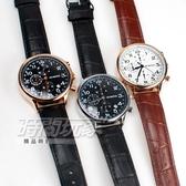 OCHSTIN 奧古斯登 個性時尚 潮男款 三眼多功能計時碼錶 男錶 皮革錶帶 日期顯示窗 OC6050銀黑